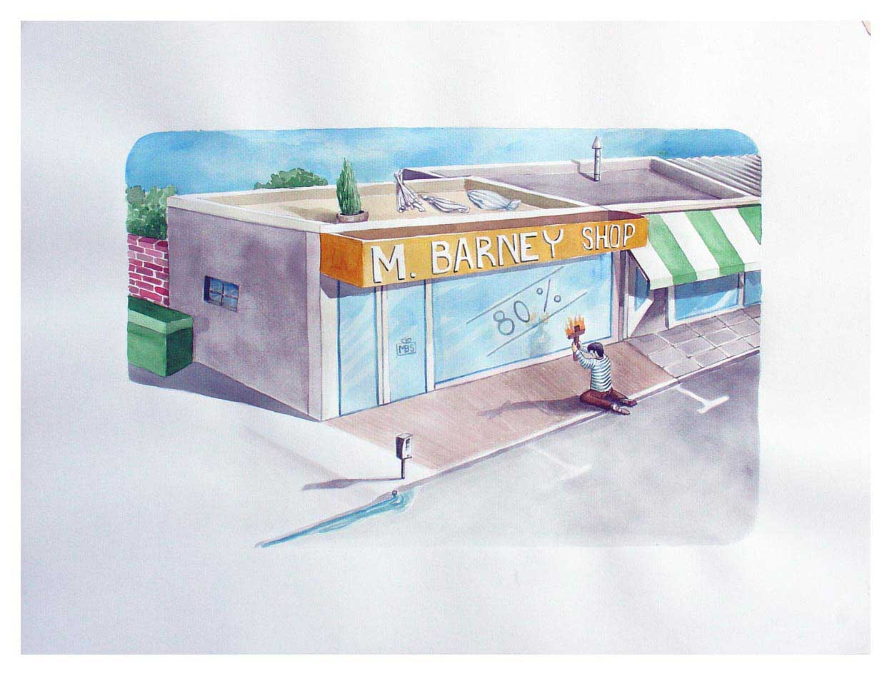 Amadeo Azar – M. Barney shop – 46×52 cm